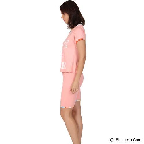 YOU'VE Pinku Love Sleepwear set Size L [841] - Pink - Baju Tidur Wanita Setelan